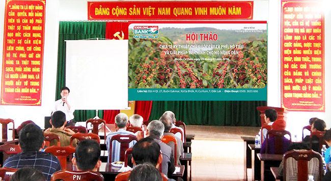 """Kienlongbank tổ chức hội thảo """"Kỹ thuật chăm sóc cây cà phê"""
