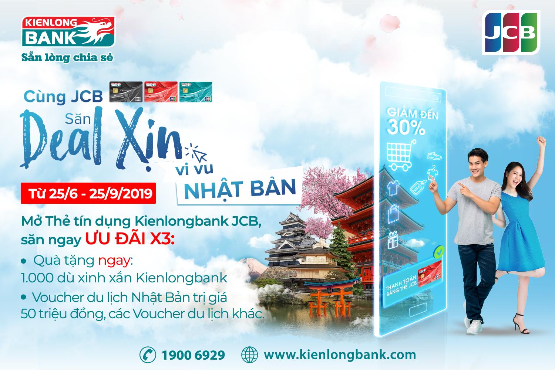 Thẻ tín dụng Kienlongbank JCB: Mở thẻ ngay, Nhận quà liền